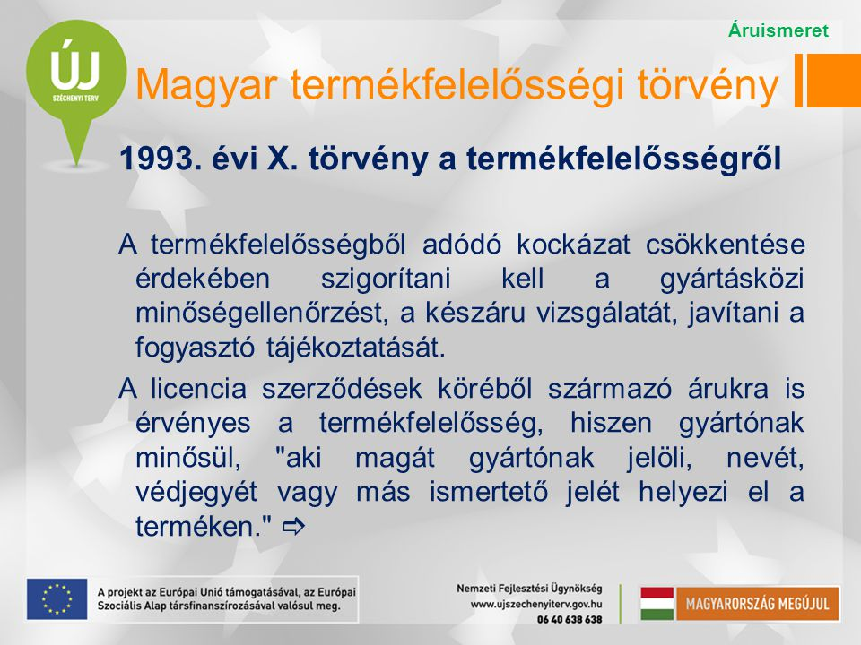 Magyar termékfelelősségi törvény