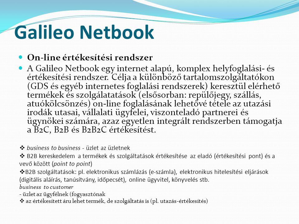 Galileo Netbook On-line értékesítési rendszer