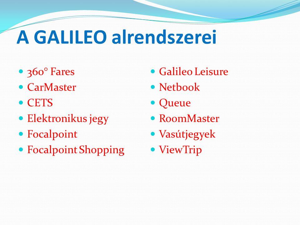 A GALILEO alrendszerei
