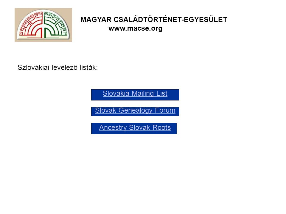 Slovak Genealogy Forum
