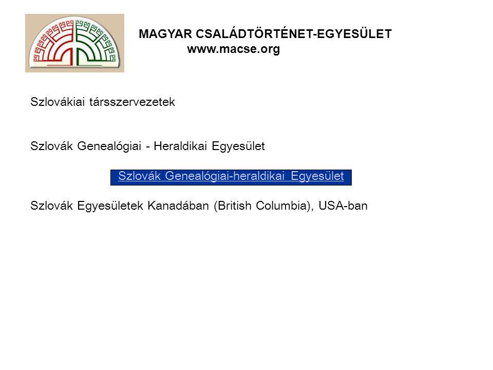Szlovák Genealógiai-heraldikai Egyesület