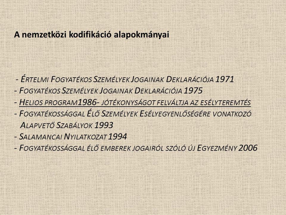 A nemzetközi kodifikáció alapokmányai
