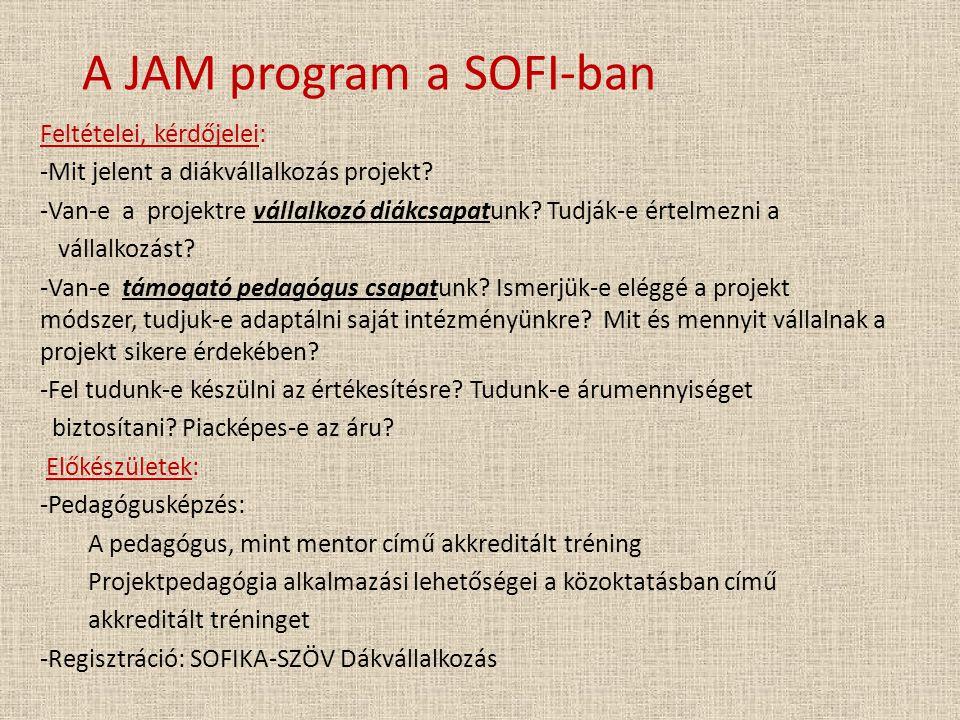 A JAM program a SOFI-ban