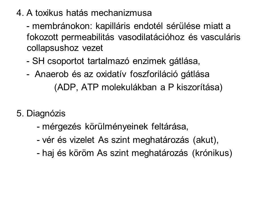 4. A toxikus hatás mechanizmusa