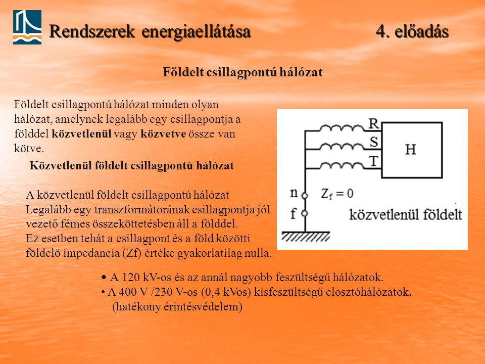 Rendszerek energiaellátása 4. előadás