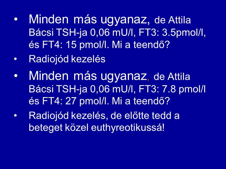 Minden más ugyanaz, de Attila Bácsi TSH-ja 0,06 mU/l, FT3: 3