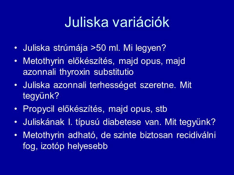 Juliska variációk Juliska strúmája >50 ml. Mi legyen