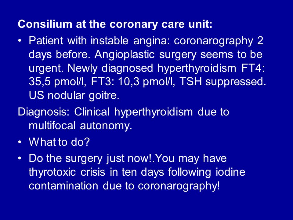 Consilium at the coronary care unit: