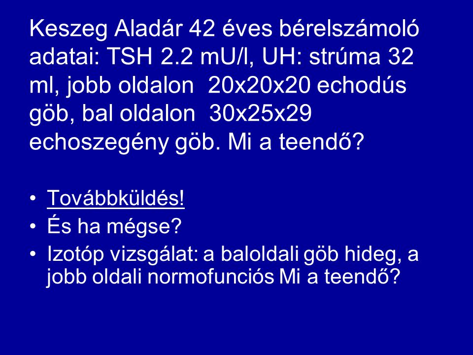 Keszeg Aladár 42 éves bérelszámoló adatai: TSH 2