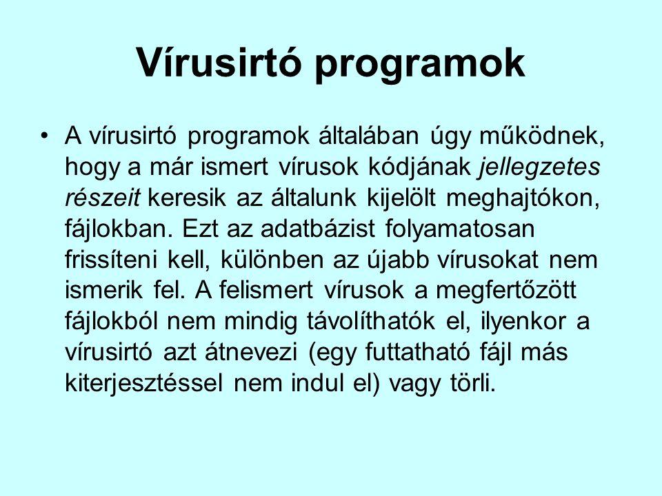 Vírusirtó programok