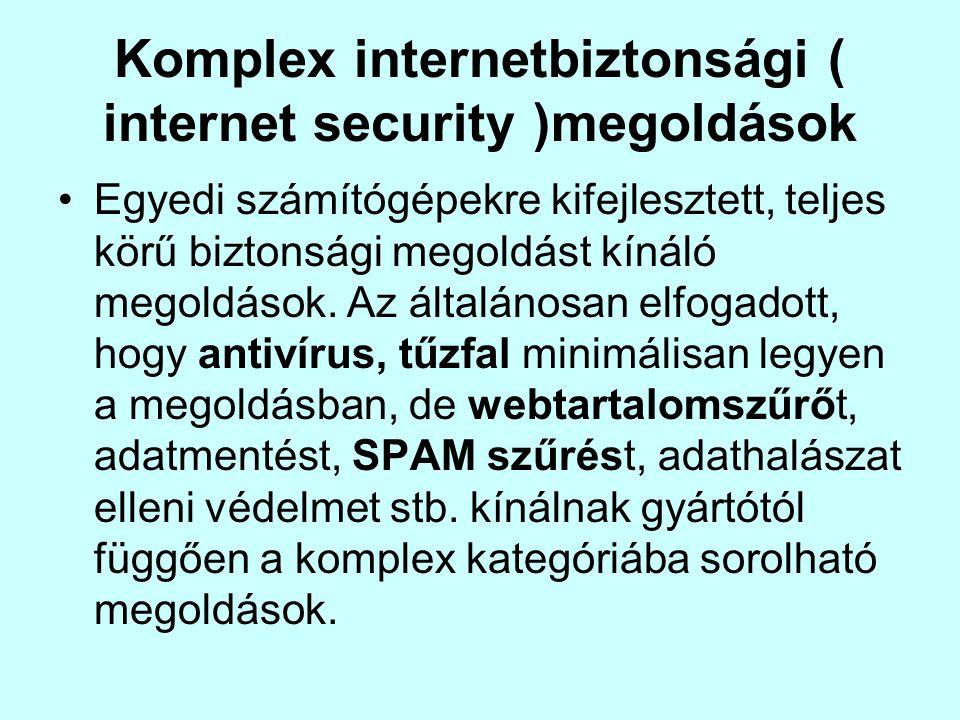 Komplex internetbiztonsági ( internet security )megoldások