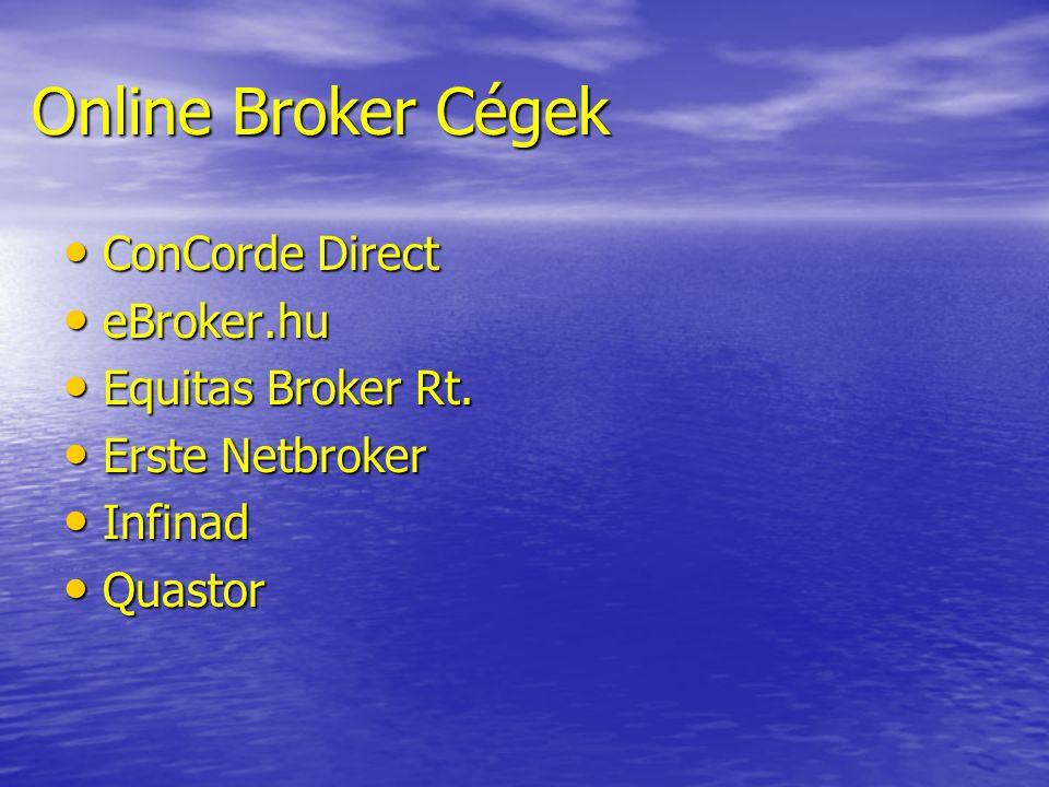 Online Broker Cégek ConCorde Direct eBroker.hu Equitas Broker Rt.