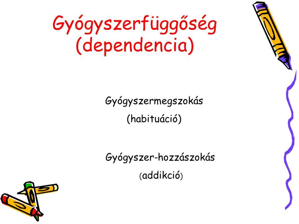 Gyógyszerfüggőség (dependencia)