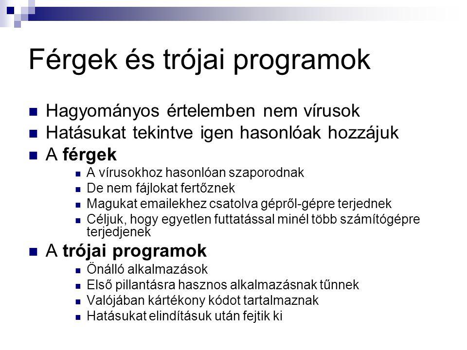 Férgek és trójai programok