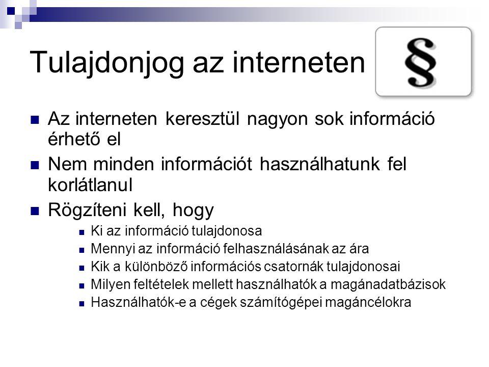 Tulajdonjog az interneten
