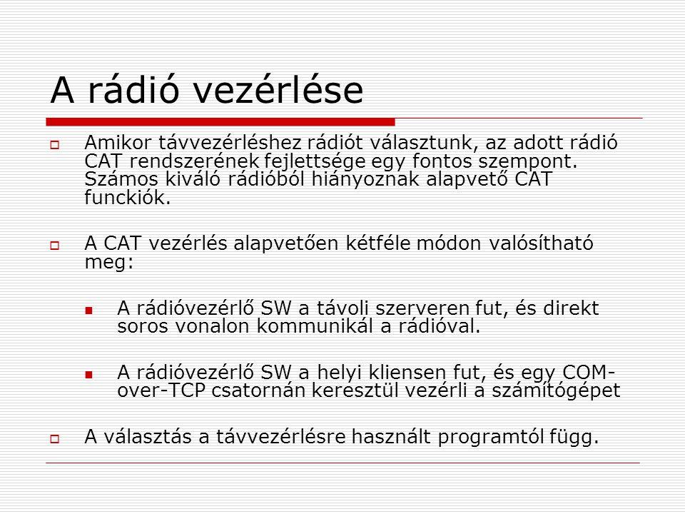 A rádió vezérlése