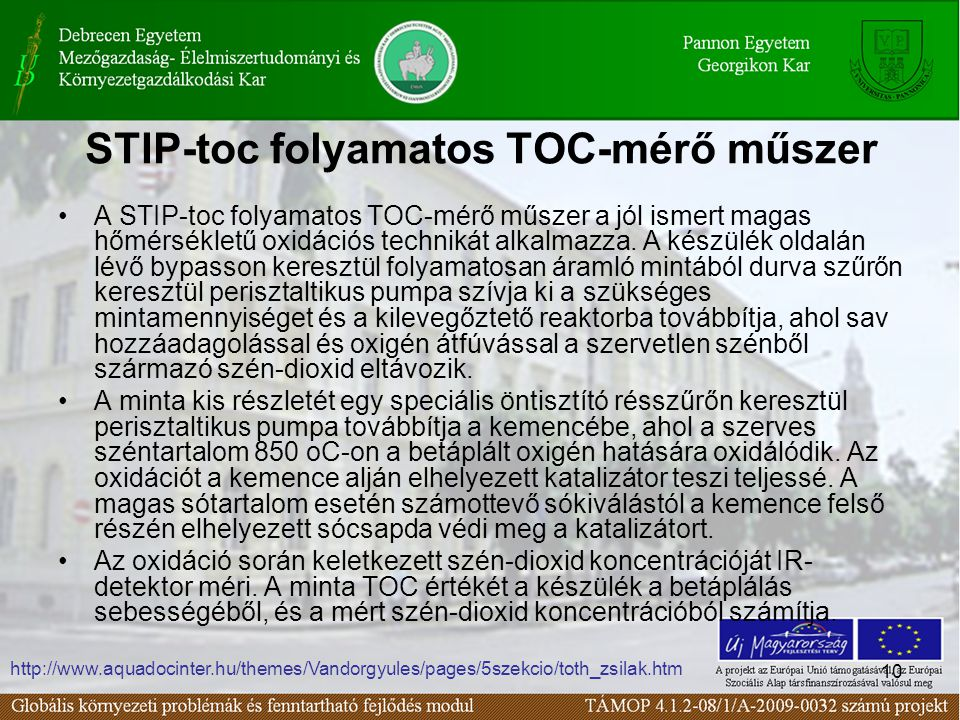 STIP-toc folyamatos TOC-mérő műszer