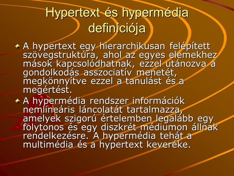 Hypertext és hypermédia definíciója