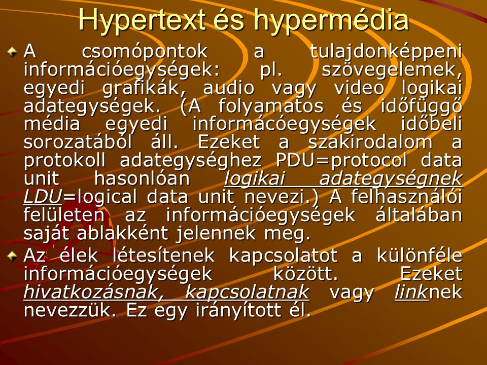 Hypertext és hypermédia