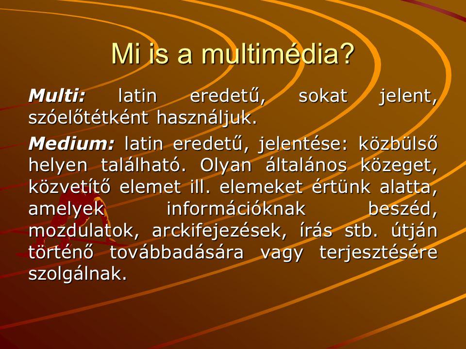 Mi is a multimédia Multi: latin eredetű, sokat jelent, szóelőtétként használjuk.
