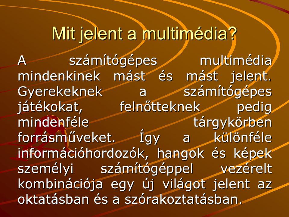Mit jelent a multimédia