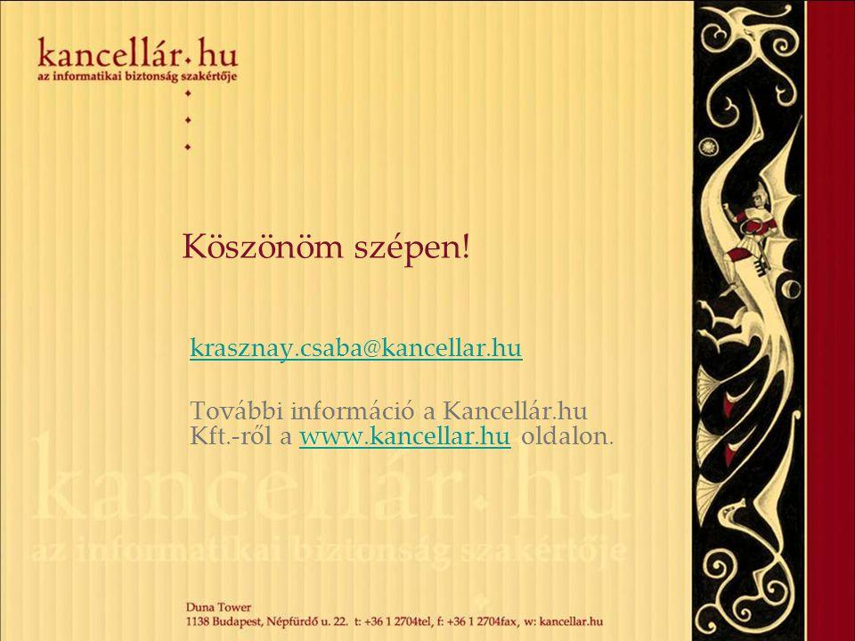 Köszönöm szépen! krasznay.csaba@kancellar.hu