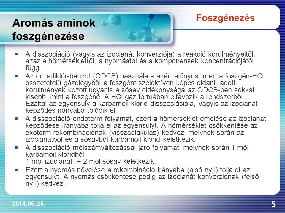 Aromás aminok foszgénezése