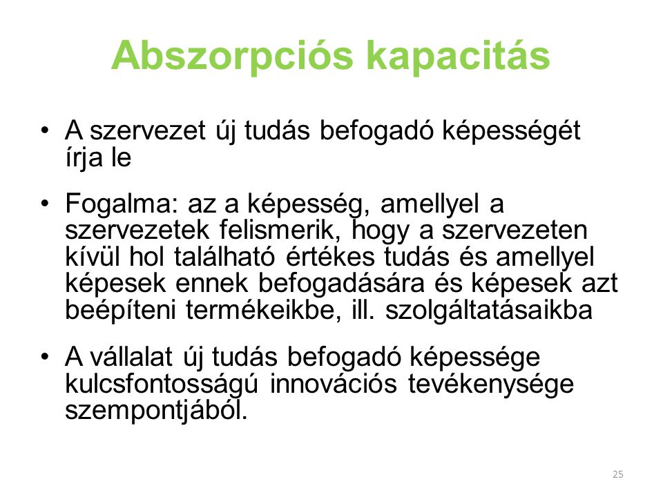 Abszorpciós kapacitás