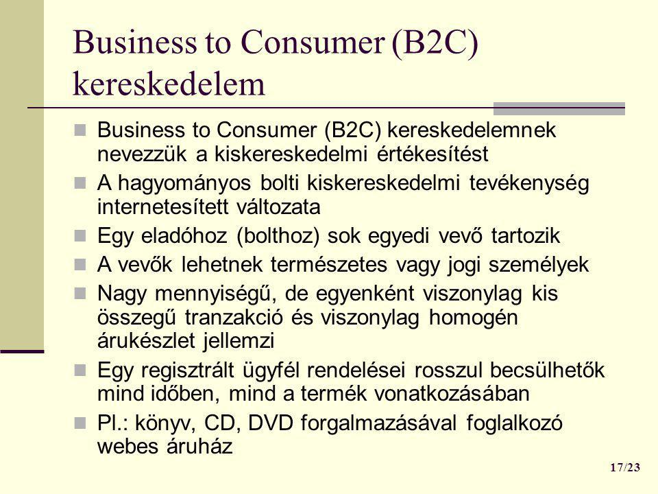 Business to Consumer (B2C) kereskedelem