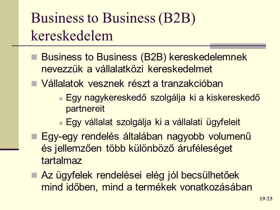 Business to Business (B2B) kereskedelem