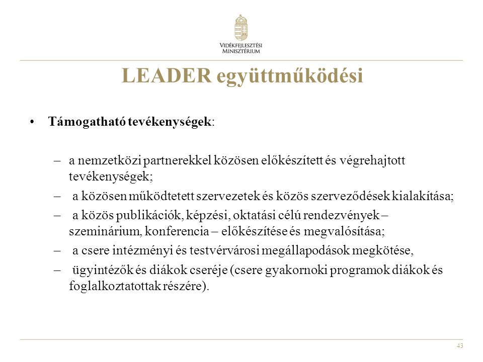 LEADER együttműködési