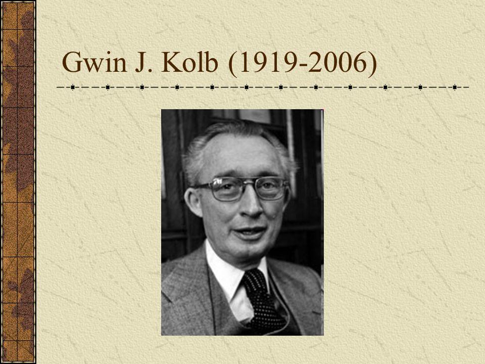 Gwin J. Kolb (1919-2006)