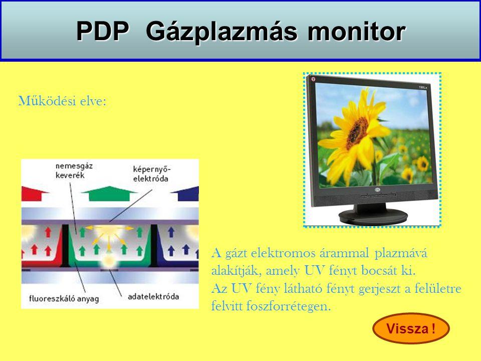 PDP Gázplazmás monitor