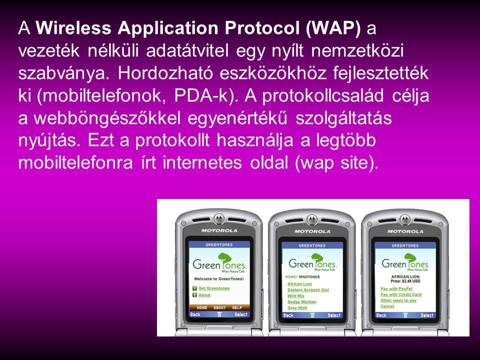 A Wireless Application Protocol (WAP) a vezeték nélküli adatátvitel egy nyílt nemzetközi szabványa.