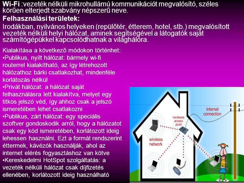 Felhasználási területek: