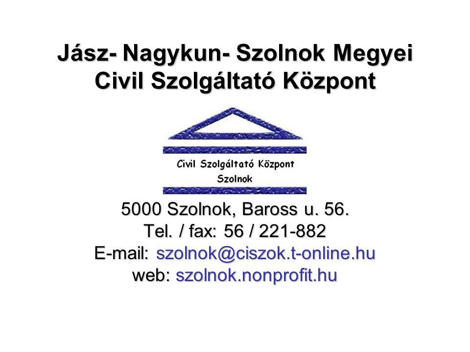 Jász- Nagykun- Szolnok Megyei Civil Szolgáltató Központ