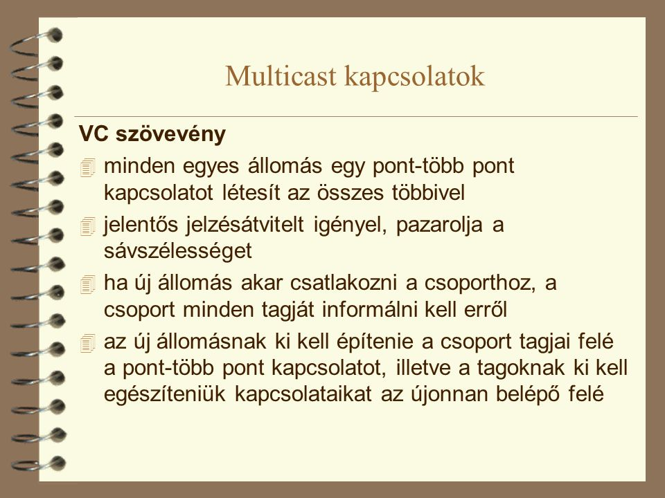 Multicast kapcsolatok