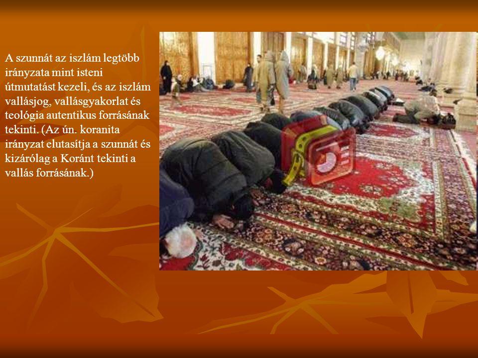 A szunnát az iszlám legtöbb irányzata mint isteni útmutatást kezeli, és az iszlám vallásjog, vallásgyakorlat és teológia autentikus forrásának tekinti.
