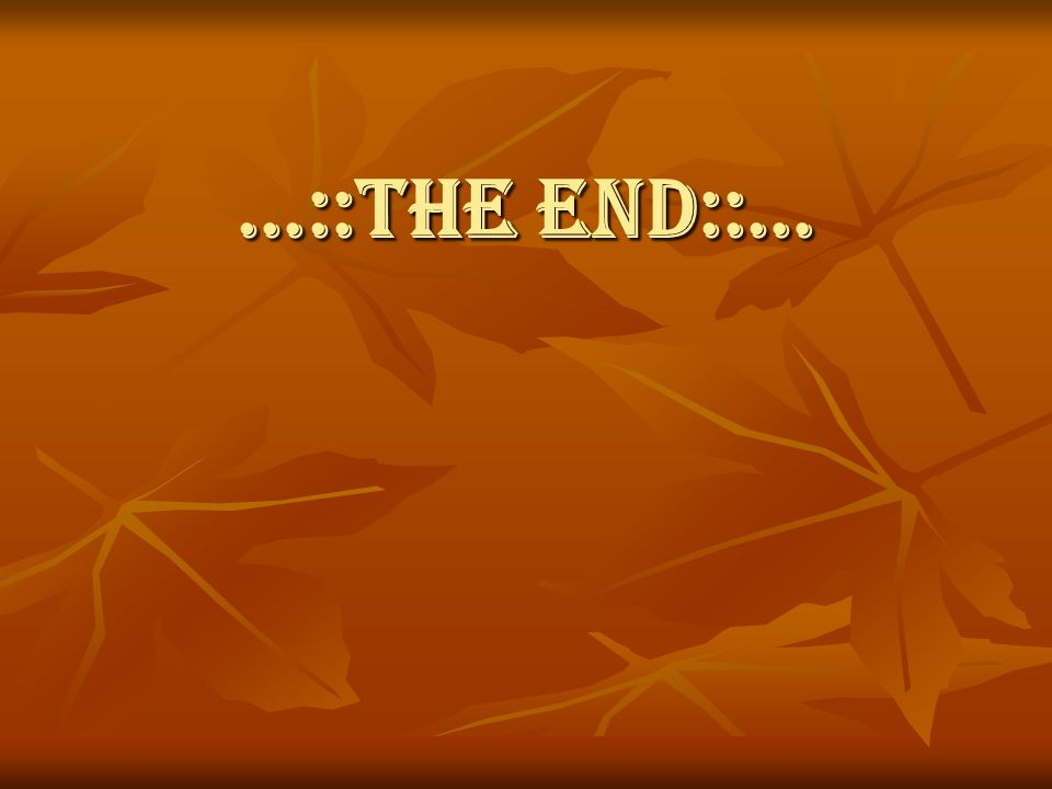 …::THE END::…