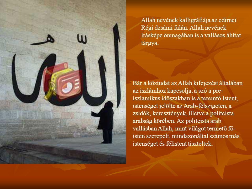 Allah nevének kalligráfiája az edirnei Régi dzsámi falán