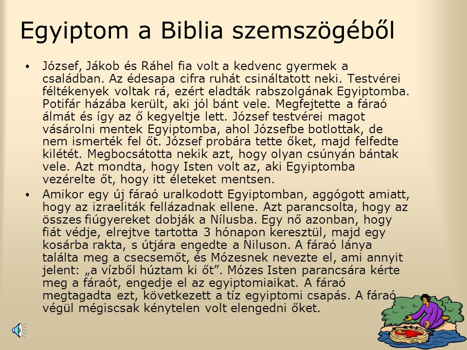 Egyiptom a Biblia szemszögéből