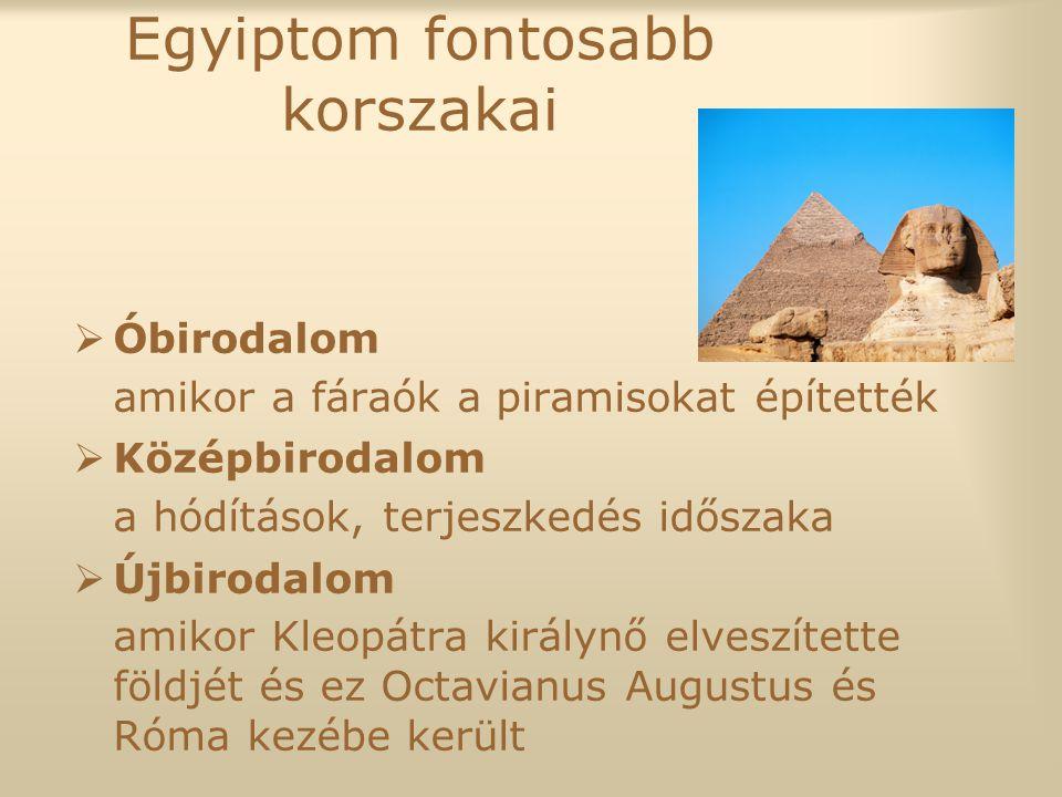 Egyiptom fontosabb korszakai