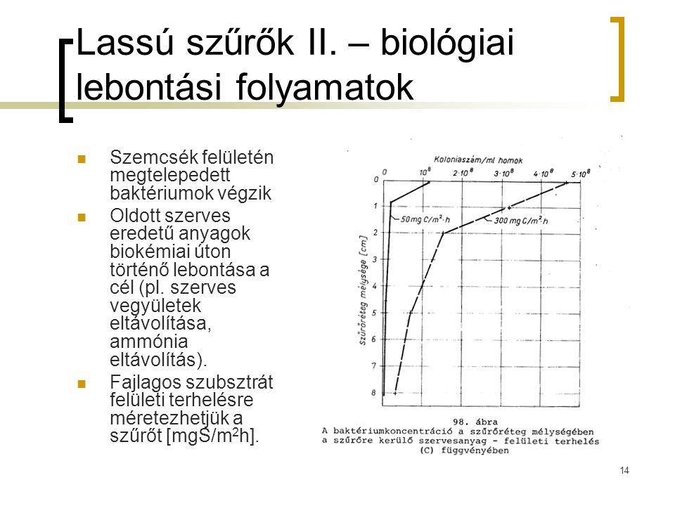Lassú szűrők II. – biológiai lebontási folyamatok