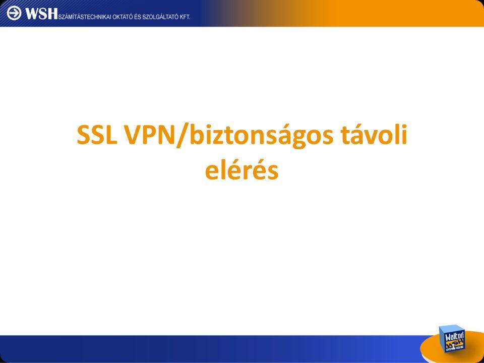 SSL VPN/biztonságos távoli elérés
