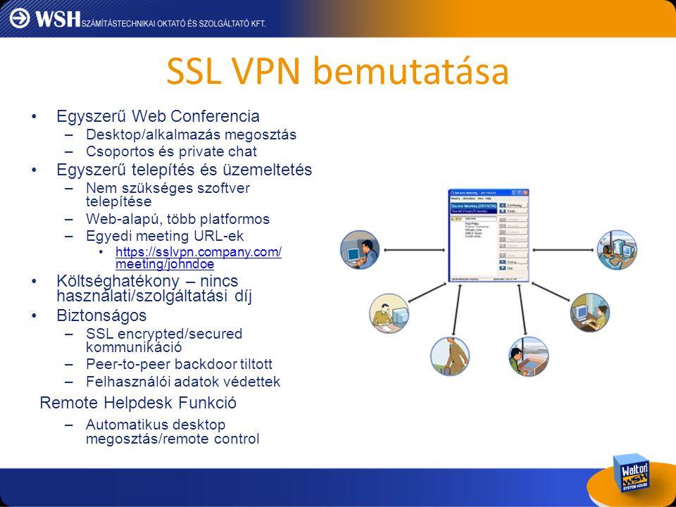 SSL VPN bemutatása Egyszerű Web Conferencia