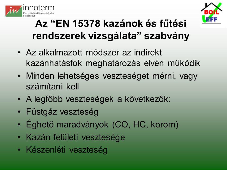 Az EN 15378 kazánok és fűtési rendszerek vizsgálata szabvány