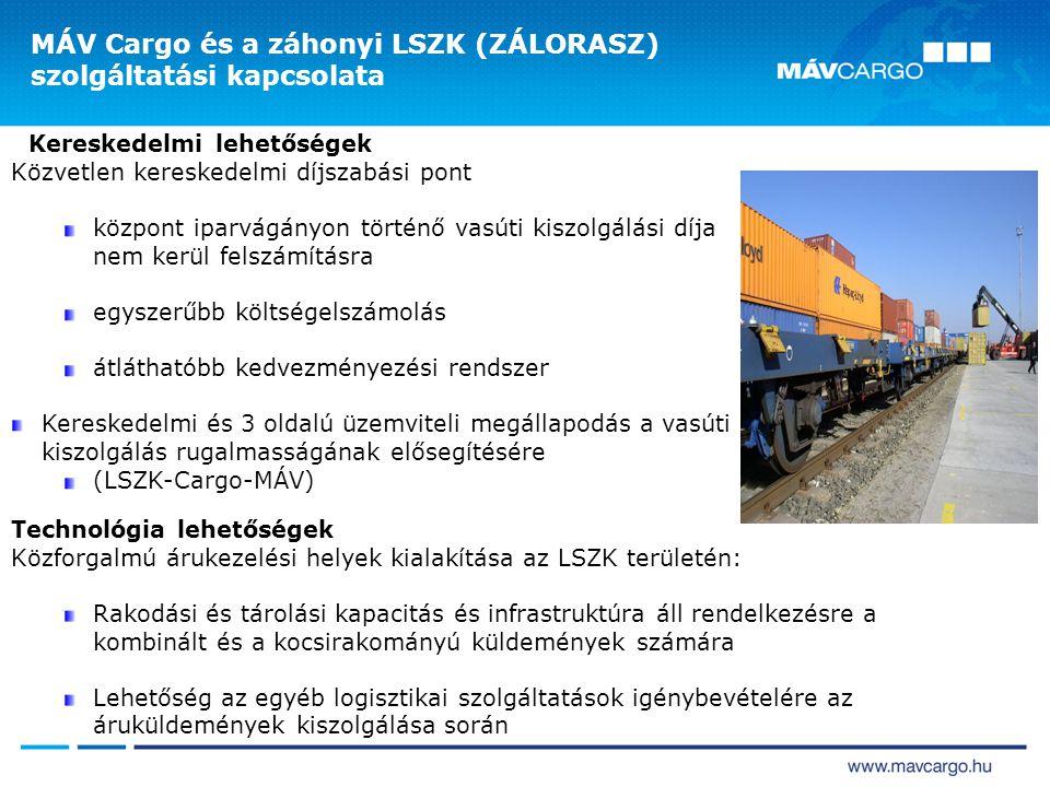 MÁV Cargo és a záhonyi LSZK (ZÁLORASZ) szolgáltatási kapcsolata