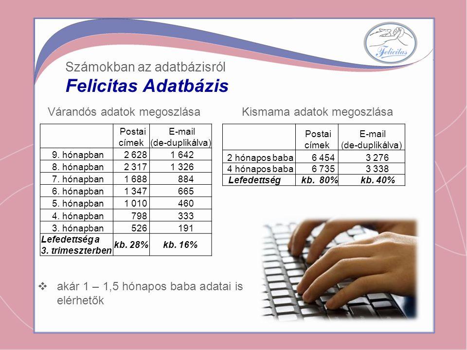 Felicitas Adatbázis Számokban az adatbázisról