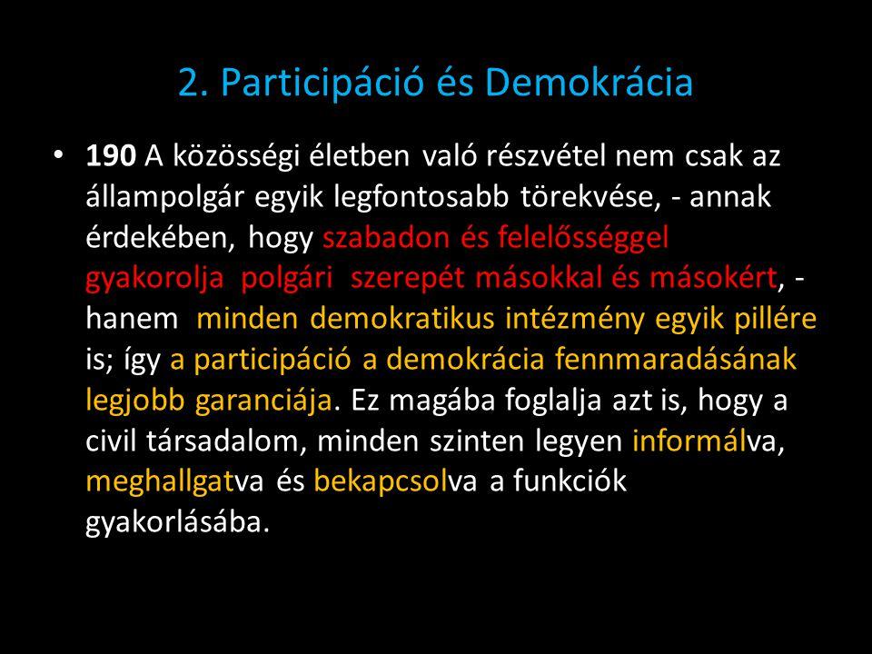 2. Participáció és Demokrácia