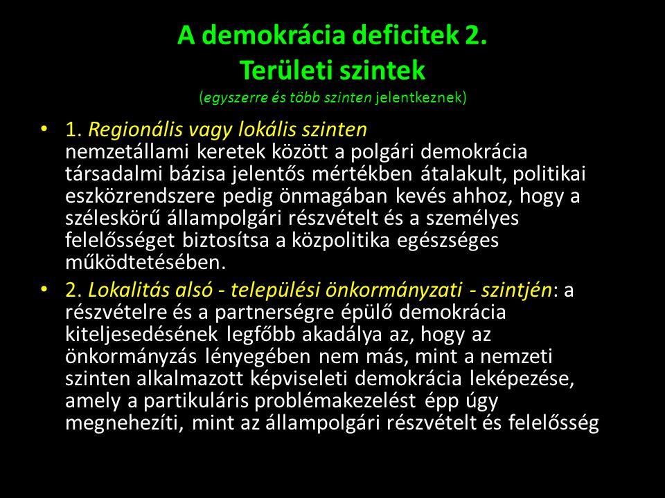A demokrácia deficitek 2